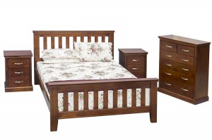 bed wood dark