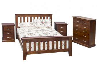 bed wood dark