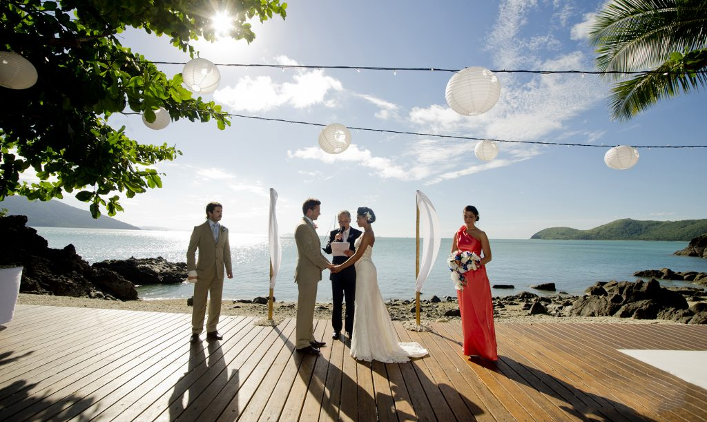 day dream island wedding ceremony