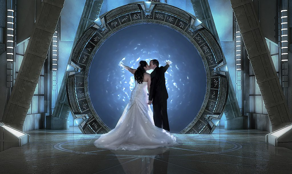 star gate wedding Photoshop